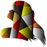 Artistiek silhouet royalty-vrije illustratie