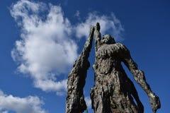 Artistiek standbeeld bij de stad Griekenland van Kastoria Royalty-vrije Stock Fotografie