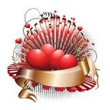 Artistiek valentijnskaartontwerp Stock Foto
