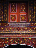 Artistiek venster Sumatran Stock Foto's