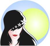 Artistiek vrouwengezicht vector illustratie