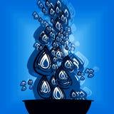 Artistiek water dalend ontwerp Royalty-vrije Stock Fotografie