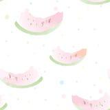 Artistiek watermeloen naadloos patroon Royalty-vrije Stock Afbeeldingen