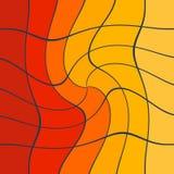 Artistieke abstracte gele rode en oranje dynamische collage royalty-vrije stock foto's
