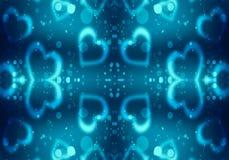Artistieke Abstracte Kleurrijke Vlotte Unieke het Kunstwerkachtergrond van het Hartenpatroon vector illustratie