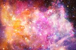 Artistieke Abstracte Multicolored Vlotte Heldere Nevelmelkweg op een Ruimteachtergrond stock illustratie