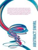 Artistieke achtergrond met werveling Vector patroon CMYK colors vector illustratie