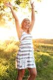 Artistieke backlit tiener Stock Afbeelding