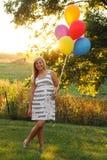 Artistieke backlit tiener Stock Foto's