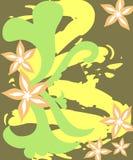 Artistieke bloemen stock illustratie