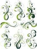 Artistieke bloemrijke ontwerpen Stock Foto