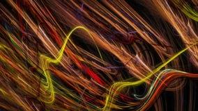 Artistieke chaos van dunne strepen Royalty-vrije Stock Afbeelding