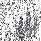 Artistieke Creatieve Tropische Zwarte Witte Modern stock illustratie