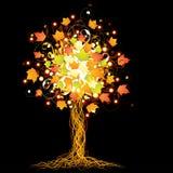 Artistieke de herfstboom Stock Afbeeldingen
