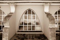 Artistieke en lichtjes conventionele architectuur Stock Foto