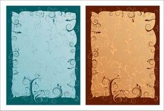 Artistieke gesierde frames   Stock Afbeelding