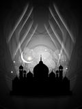 Artistieke godsdienstige eidachtergrond met moskee. royalty-vrije illustratie