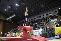 Artistieke Gymnastiek Stock Foto's