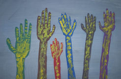 Artistieke Handen vector illustratie