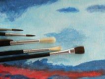 Artistieke het schilderen les Stock Foto's