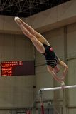 Artistieke Internationale Concurrentie van de Gymnastiek Stock Foto