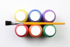 Artistieke jonge geitjes uitdrukking-alle kleuren Stock Afbeeldingen