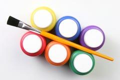 Artistieke jonge geitjes uitdrukking-alle kleuren Royalty-vrije Stock Foto