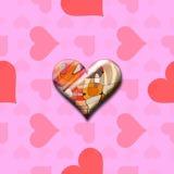 Artistieke liefde (Naadloze textuur) Stock Afbeelding