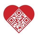 Artistieke liefdeQR Code Royalty-vrije Stock Afbeeldingen