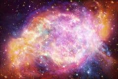 Artistieke Multicolored Mooie Nevel en melkwegen in diepe ruimte stock illustratie