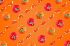 Artistieke sinaasappelenachtergrond voor reclameontwerp en meer hoop ik u peul van art. houdt royalty-vrije stock fotografie