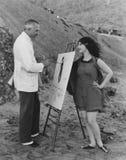 ARTISTIEKE VERGUNNING (Alle afgeschilderde personen leven niet langer en geen landgoed bestaat Leveranciersgaranties dat er geen  royalty-vrije stock foto's