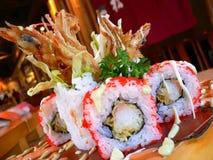 Artistieke verwezenlijking van sushi Stock Afbeelding
