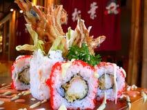 Artistieke verwezenlijking van sushi Royalty-vrije Stock Fotografie
