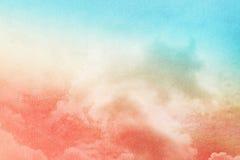 Artistieke wolk en hemel met de kleur van de pastelkleurgradiënt Royalty-vrije Stock Fotografie