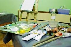 Artistieke workshop Royalty-vrije Stock Afbeelding