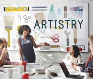 Artistry Craft Design Equipment Concept royalty free stock image