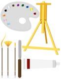 Artists� Painting Supplies Stock Photos