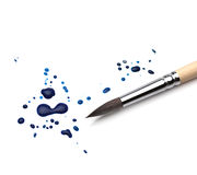 Artists brush and blots Stock Photo