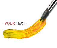 Artists brush and paint Stock Photography