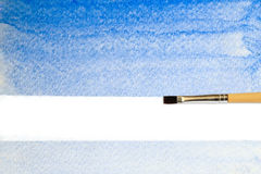 Artists brush strokes watercolor painted Stock Images