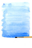 Artists brush strokes watercolor painted Stock Image