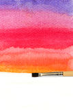 artists brush strokes watercolor painted Royalty Free Stock Image
