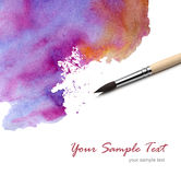Artists brush and watercolor paint Stock Image