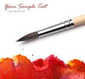 Artists brush watercolor painted. Artists brush and watercolor painted royalty free stock images