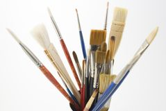 Artists Brushes - Close View Stock Photo