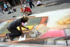 Artists chalk festival in Sarasota, Florida royalty free stock image