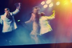 Artists During the Concert on Stage. royalty free stock image