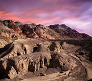 Artists Drive. The Forbidding And Mars Like Landscape Along Artists Drive In Death Valley National Park, California, USA Stock Images