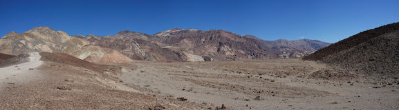 Artists Drive Panorama in Death Valley Stock Image